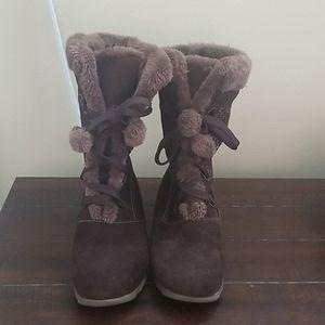Sporto JoJo Brown Waterproof Boots Size 10